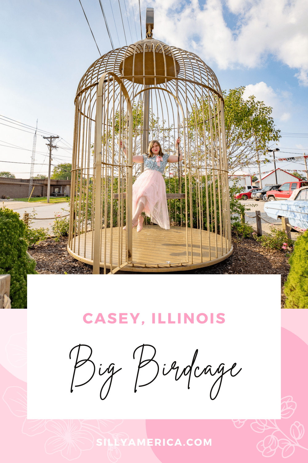 Casey, Illinois is a small town known for its big things. One of the most popular roadside attractions in Casey isn't one of the world's largest, but its big size and interactivity make it a well-beloved stop. Spread your wings and get ready to perch inside the the big birdcage in Casey, Illinois.  #IllinoisRoadsideAttractions #IllinoisRoadsideAttraction #RoadsideAttractions #RoadsideAttraction #RoadTrip #IllinoisRoadTrip #IllinoisWeekendGetaways #IllinoisWithKids #IllinoisRoadTripTravel