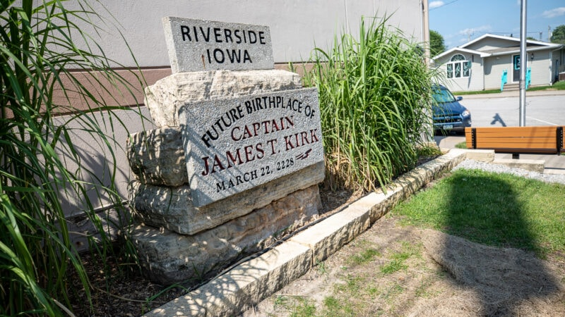 Future Birthplace of Captain James T. Kirk Plaque in Riverside, Iowa