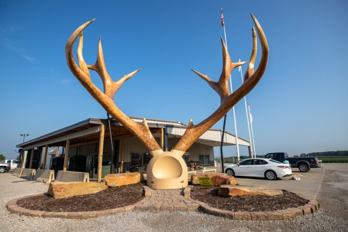 Big Antlers in Casey, Illinois roadside attraction