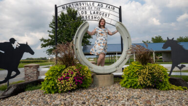 Former world's largest horseshoe in Casey, Illinois roadside attraction