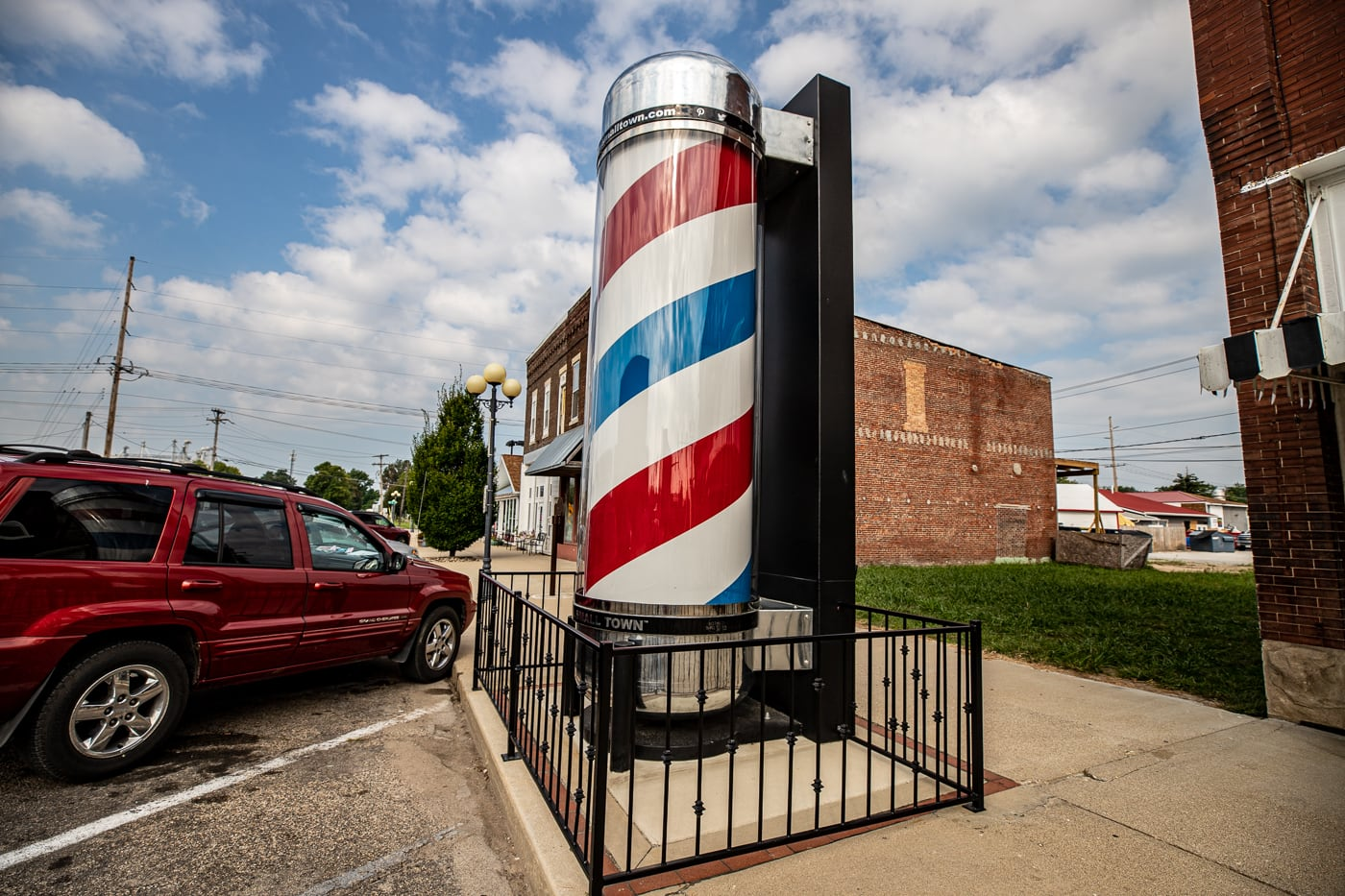 World's Largest Barbershop Pole in Casey, Illinois roadside attraction