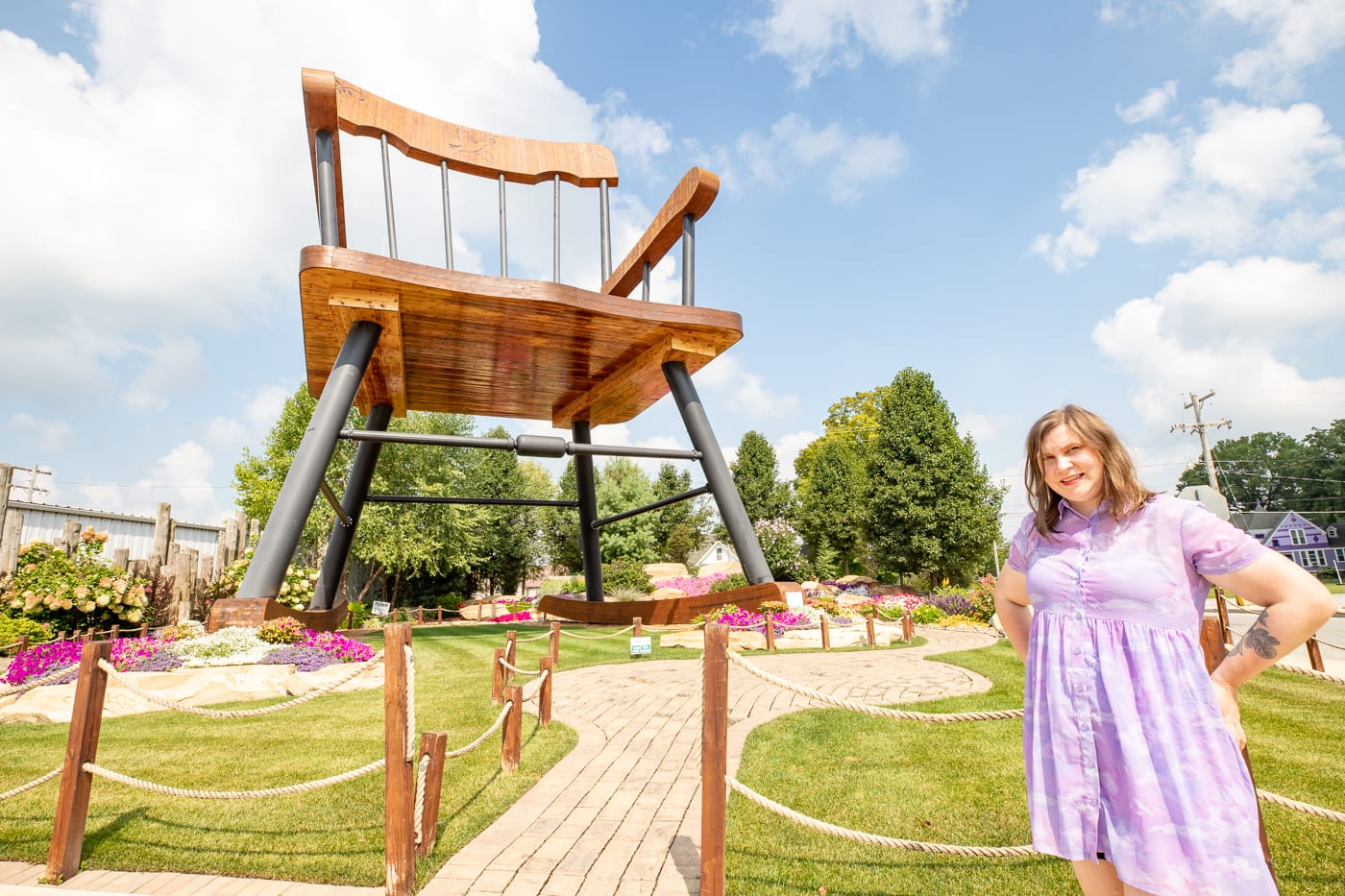 World's Largest Rocking Chair in Casey, Illinois roadside attraction