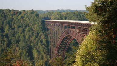 New River Gorge Bridge in Fayetteville, West Virginia