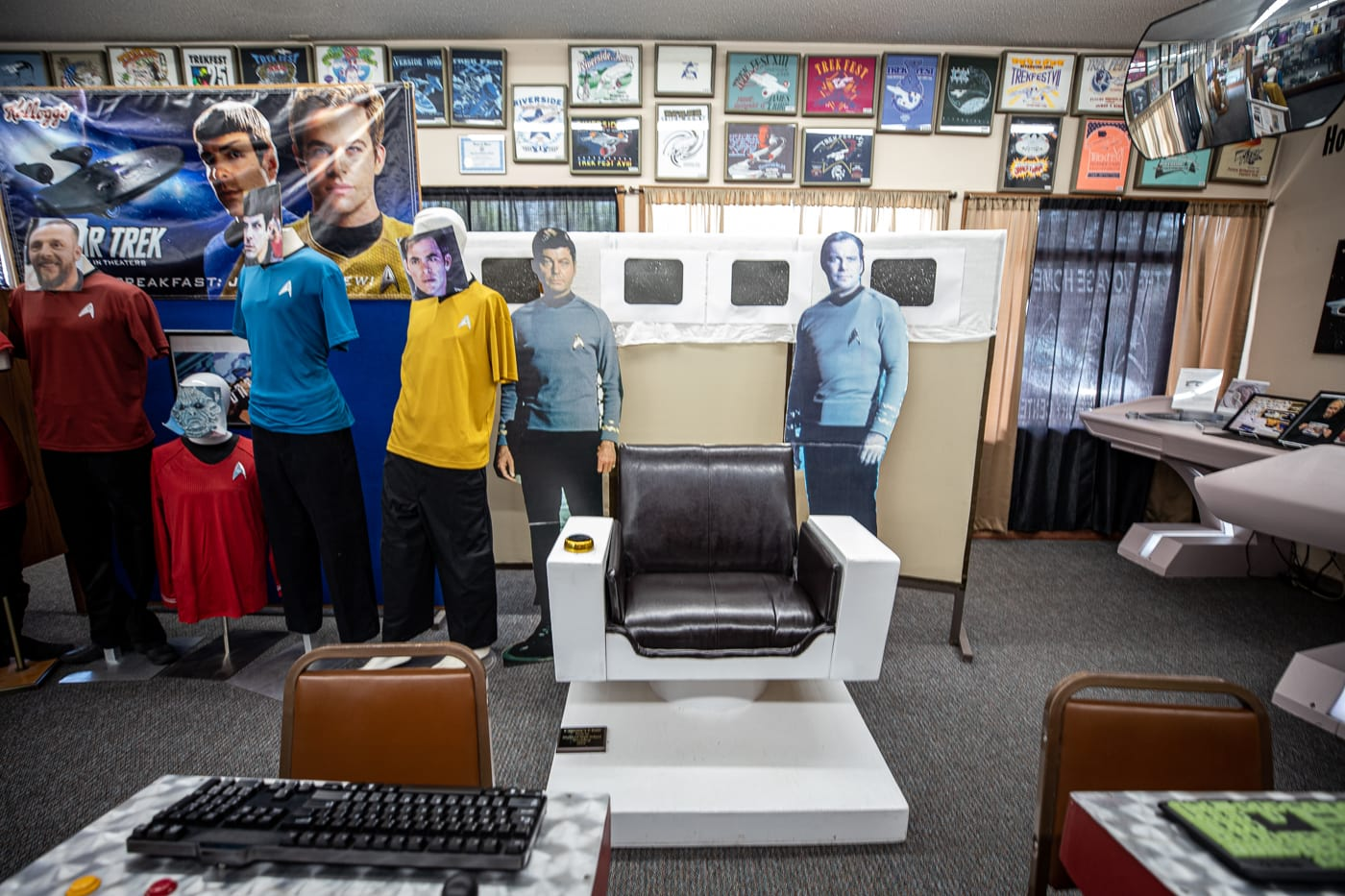 Model of a command station at the Voyage Home History Center in Riverside Iowa. A Star Trek Museum in the future birthplace of Captain James T. Kirk of Star Trek fame.