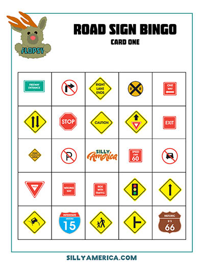 photograph about Travel Bingo Printable identify Street Vacation Motor vehicle Video games + No cost Auto Video game Printables - Foolish The usa