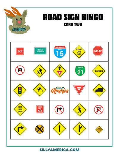 Download Road Sign Bingo - Card 3